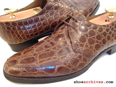 Bally ACAPULCO Mens Full Genuine Alligator Skin Shoes
