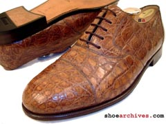 Bally MARQUIS Crocodile Skin Shoes
