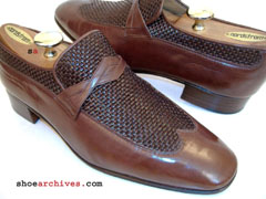Bally ROYAL 2 Mens Woven Wingtip Loafers Shoes