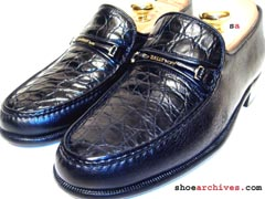 Bally SESTRI Mens Genuine Alligator Skin Loafers Shoes