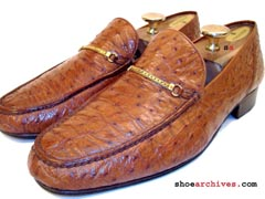 Bally Ostrich Quill Loafers Shoes