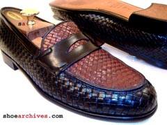 Bruno Magli ARNO Fully Woven Mens Loafers