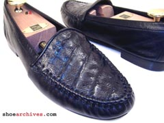 Bruno Magli BERNARD Crocodile Skin Loafers