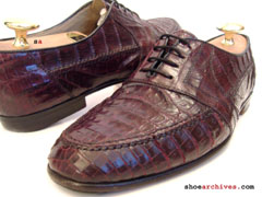 Bruno Magli Genuine Crocodile Alligator Skin Dress Shoes