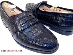 Bruno Magli NASH Crocodile Loafers