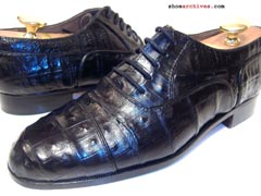 Bruno Magli NEAL Crocodile Skin Shoes