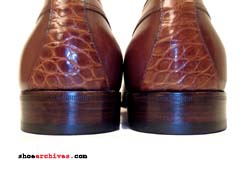 Bruno Magli WINDSOR Mens Alligator Crocodile Skin Oxfords Shoes