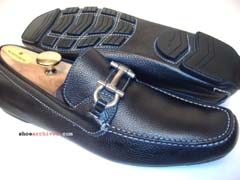 Ferragamo ANTHONY Gancini Bit Driver Driving Shoes Loafers Mens