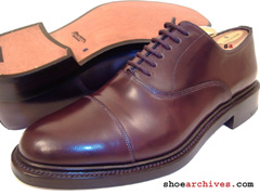 Santoni GRIFFIN Mens SHELL CORDOVAN Dress Shoes Balmoral Oxfords