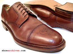 Santoni REMINGTON Goodyear Welt Construction Mens Hand Made Designer Luxury Dress Shoes Derby Blucher Oxfords