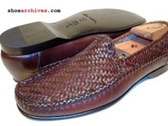 Santoni SHANE Mens Designer Woven Loafers Shoes