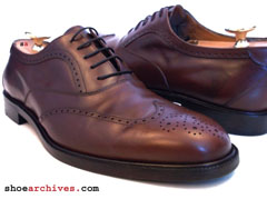 Salvatore Ferragamo BENSON Studio Wingtip Mens Shoes