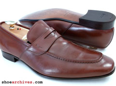 Salvatore Ferragamo Mens BERGAMO Loafers Shoes Handmade in Italy