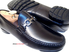 Salvatore Ferragamo GLOVE Gancini Bit Loafers Shoes