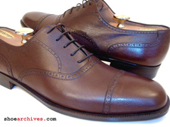 Salvatore Ferragamo DARINO Mens Cap Toe Balmoral Oxfords