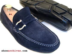 Ferragamo DUBLO 2 Driver Driving Loafers Shoes Men