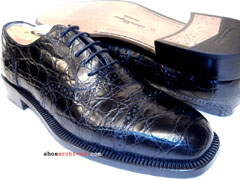 Salvatore Ferragamo FOIX Genuine Crocodile Oxfords