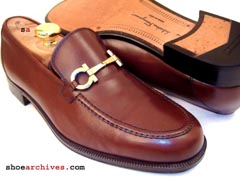 Ferragamo FROM Double Gancini Bit Loafers
