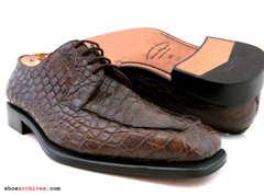 Ferragamo Mens Full Crocodile Shoes