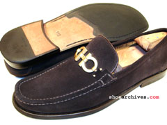 Salvatore Ferragamo GEAR Mens Gancini Bit Loafers