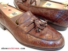 Salvatore Ferragamo GILDO Crocodile Loafers