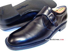 Salvatore Ferragamo GIRO Mens Monk Strap Shoes