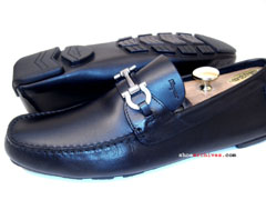 Salvatore Ferragamo LIGHT Mens Gancini Driving Driver Shoes