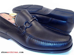 Salvatore Ferragamo LOUIS Mens Black Gancini Bit Loafers Shoes