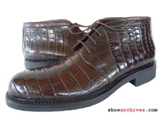 Ferragamo NASCENT Genuine Alligator Skin Mens Boots Shoes