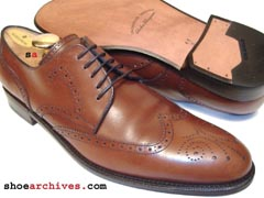 Salvatore Ferragamo NICOSIA Mens Lavorazione Originale Wingtip Derby Blucher Oxfords Shoes Italy