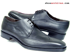 Ferragamo Lavorazione Originale PAYAT Wingtip Blucher Mens Shoes