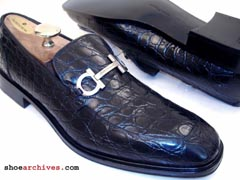 Ferragamo Mens CROCODILE Shoes