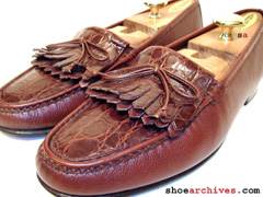 Salvatore Ferragamo STEFANO 2 Genuine Crocodile Alligator Skin Mens Italian Made Shoes Loafers