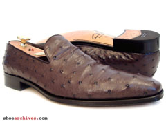 Salvatore Ferragamo TAMBIEN 2 Ostrich Quill Mens Shoes Loafers