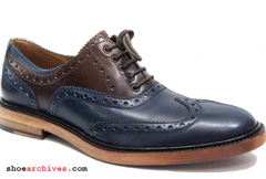 Salvatore Ferragamo TANGO Mens Wingtip Balmoral Spectator Shoes
