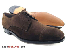 Salvatore Ferragamo TASMAN Mens Lavorazione Originale Blucher Derby Shoes Lace Up High End Designer
